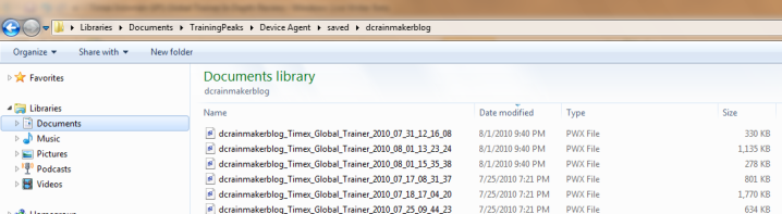Timex Global Trainer PWX Files