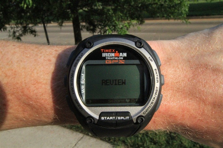 Timex Global Trainer Review Mode