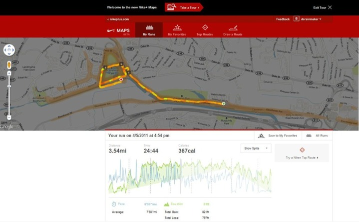Nike+ GPS Website Run GPS Hot Zones