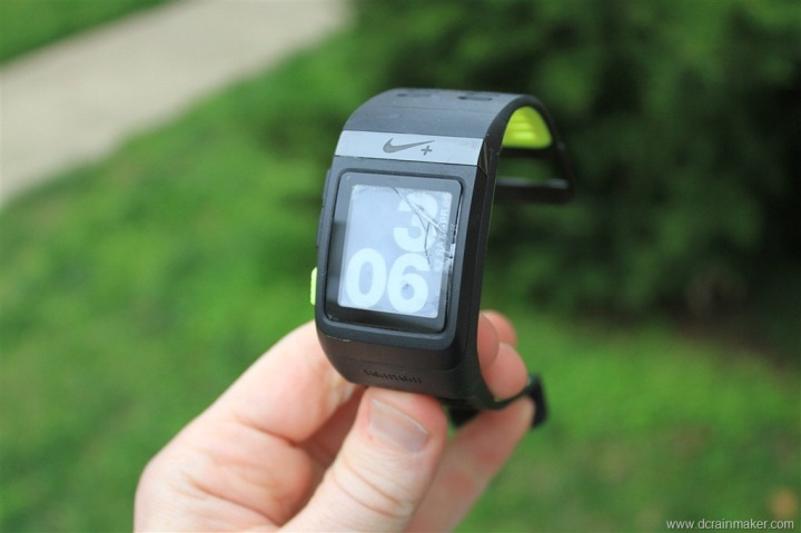 Nike+ GPS Sportwatch Cracked Screen