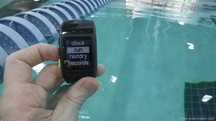 Nike+ GPS Sportwatch in the pool