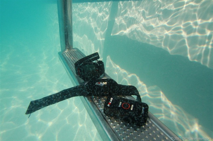 Polar RCX5 Gear underwater, waterproofing