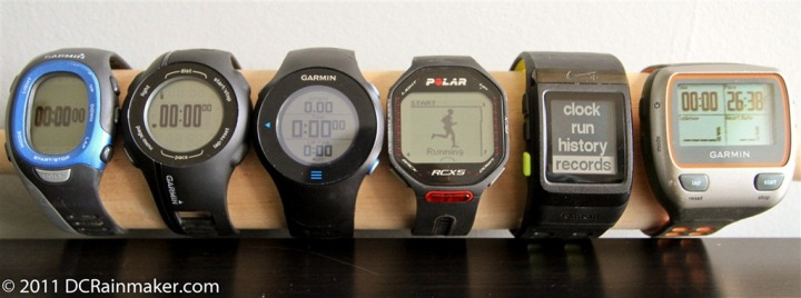 Polar RCX5 & Garmin Comparison, plus Nike+ GPS