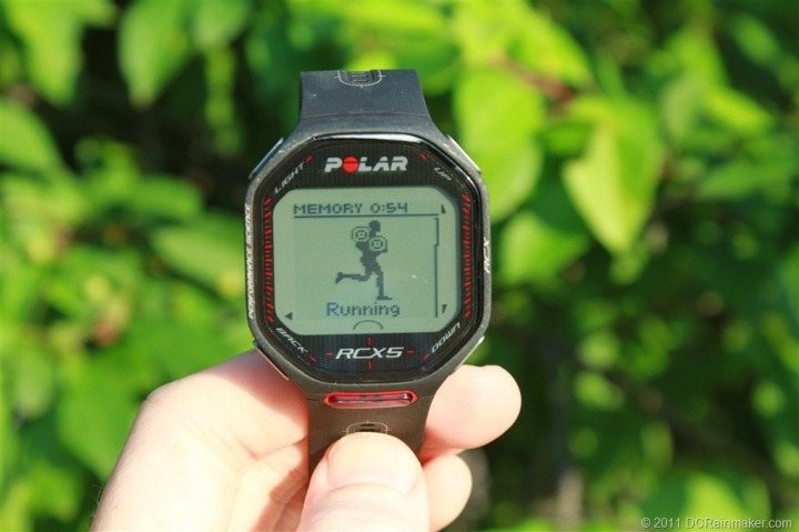 Polar RCX5 Running Start Screen