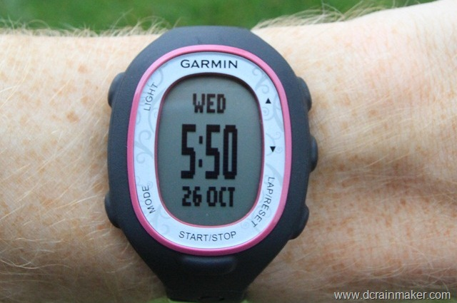 Garmin FR70 on wrist