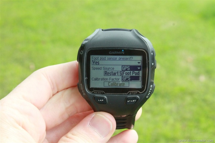 Garmin FR910XT ANT+ Footpod Speed Source
