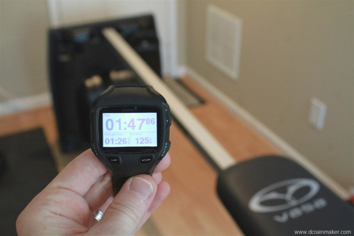 Garmin FR910XT with indoor swimming trainer