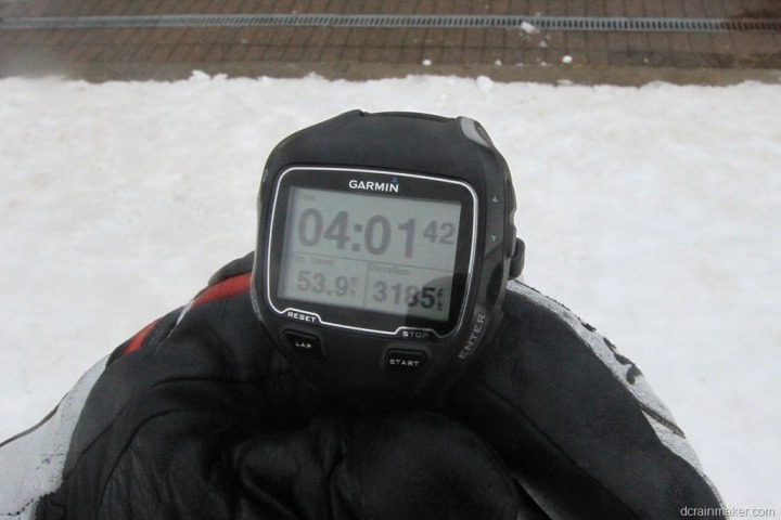 Garmin FR910XT in Skiing Mode Max Speed