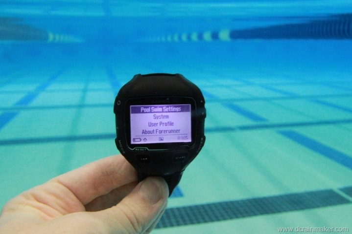 Garmin FR910XT Pool Lap Settings