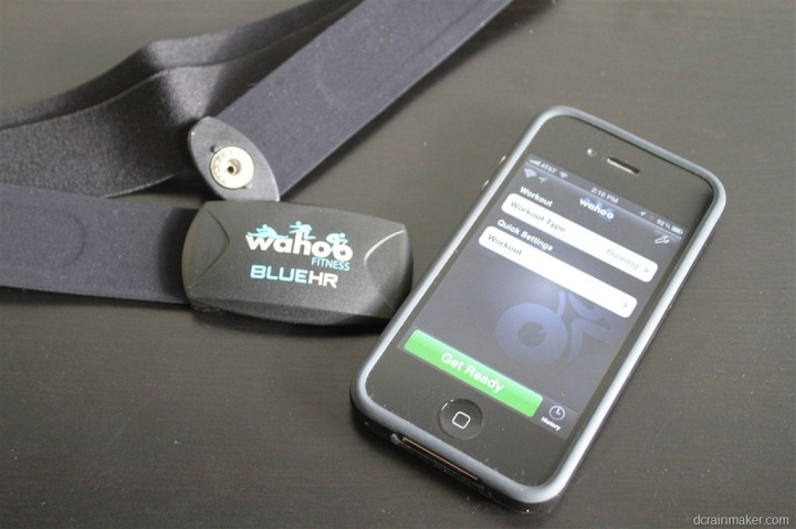 Wahoo Fitness Blue HR with iPhone 4S