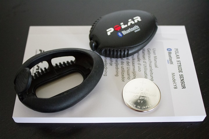 Polar Bluetooth Smart Footpod Unboxed Parts