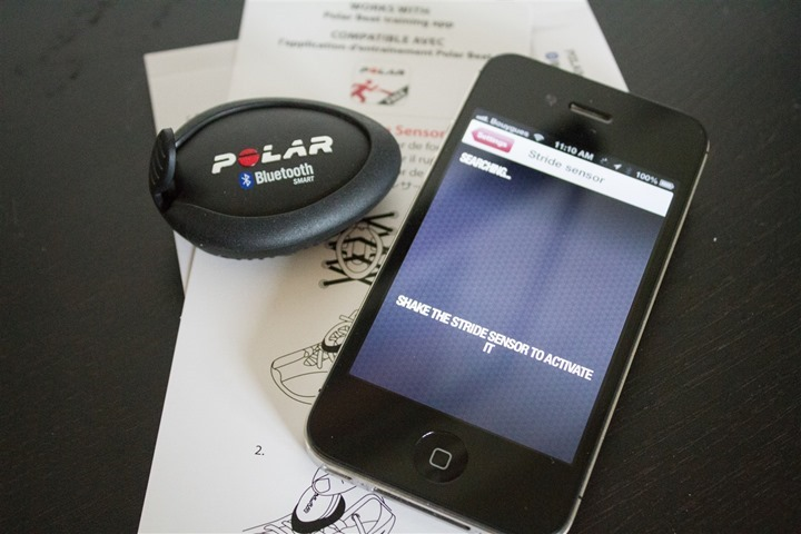 Polar Beat App Footpod Setup