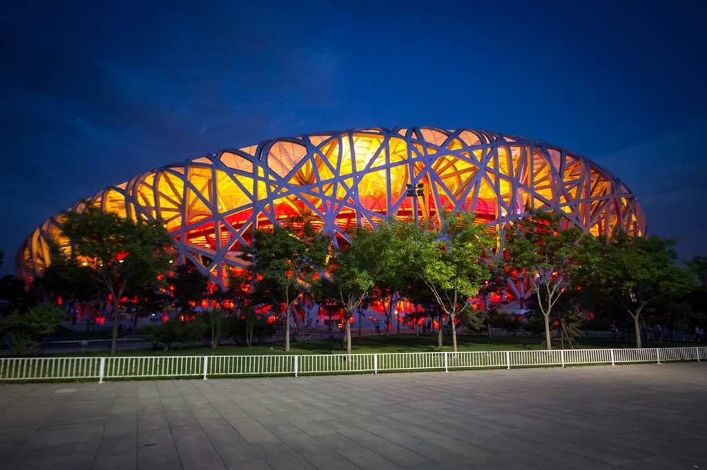 Swimming in the Beijing Olympic Water Cube