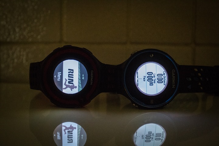 Garmin FR620 and FR220 at night
