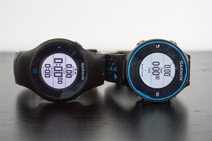 Garmin FR620 FR610 Size Comparison