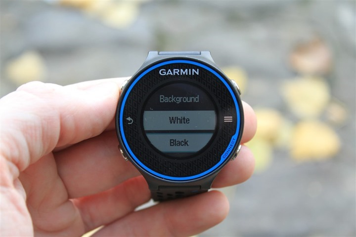 Garmin FR620 Display Invert