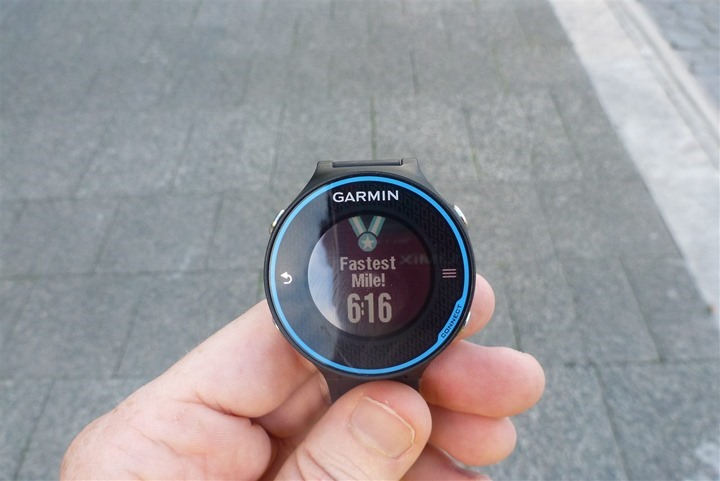 Garmin FR620 PR Records