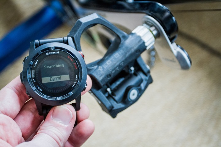 Garmin Fenix2 Cycling Power Meter Search