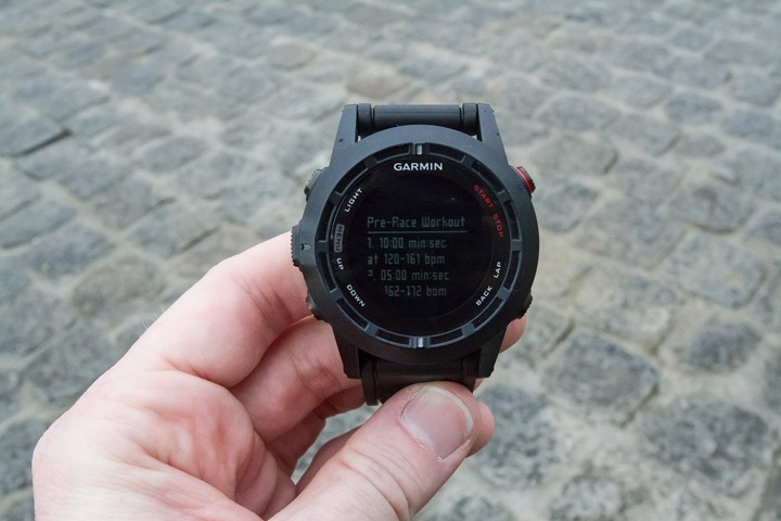 Garmin Fenix2 Workout Creation