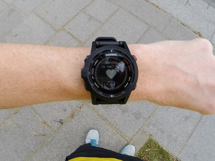 Garmin Fenix2 Run Start Searching Heart Rate