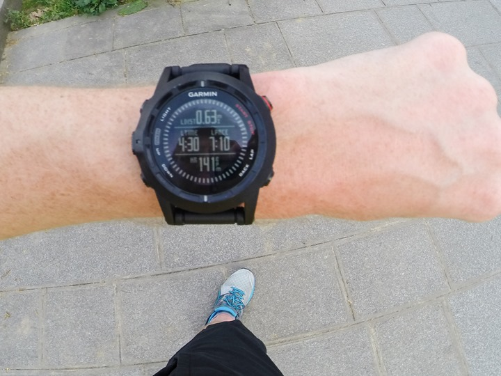 Garmin Fenix2 while running