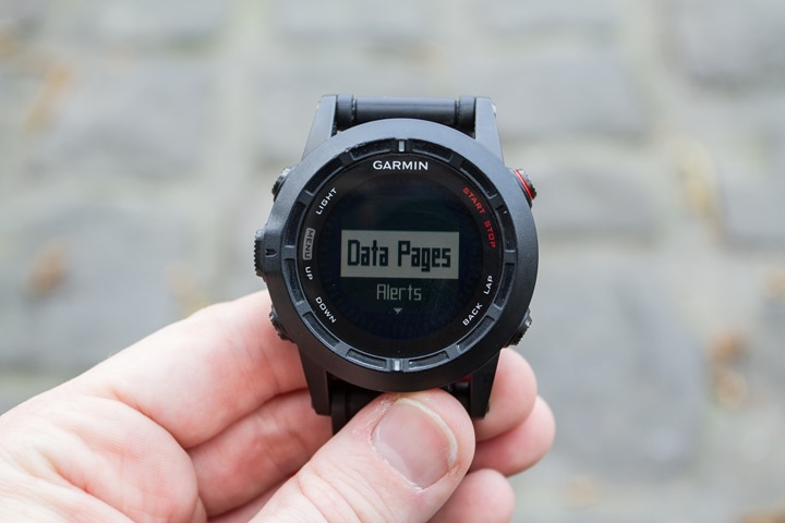 Garmin Fenix2 Data Customization