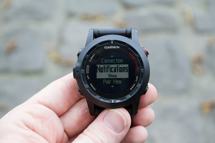 Garmin Fenix2 Notifications