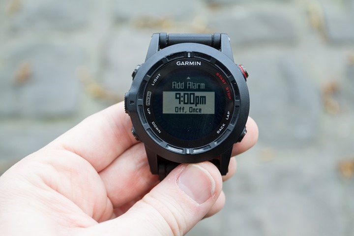 Garmin Fenix2 Alarms