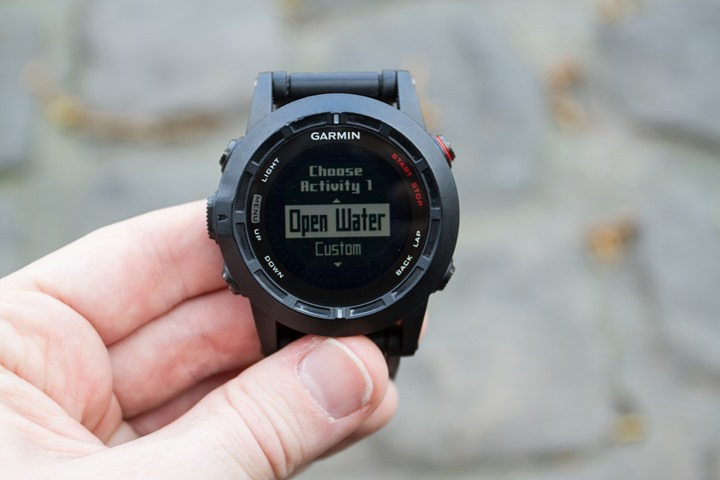 Garmin Fenix2 Multisport Mode Config