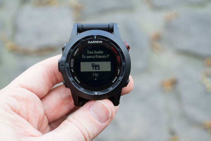 Garmin Fenix2 Multisport Mode Transitions