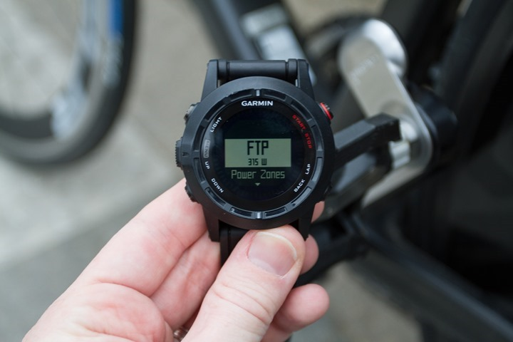 Garmin Fenix2 Power Meter Zone Setup
