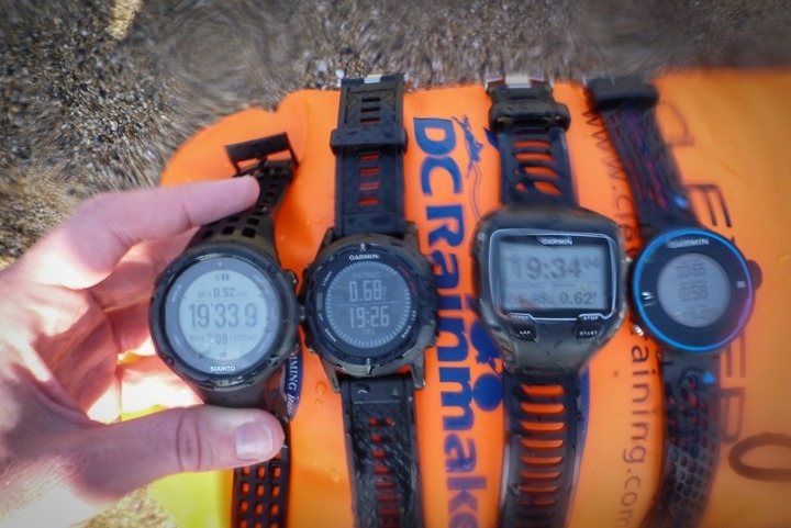 Garmin GPS Accuracy Testing while openwater swimming