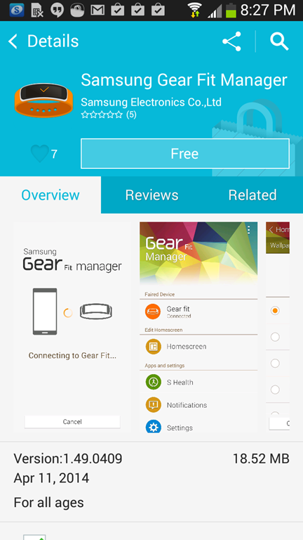 gear fit manager not working