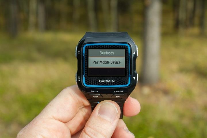 Garmin FR920XT - Pair Mobile Phone