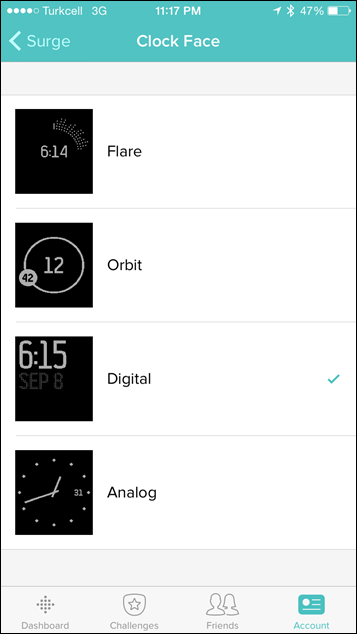 Fitbit-Surge-Clockface-Settings