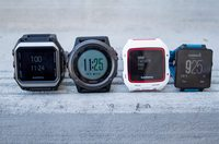 Left to right: Epix, Fenix3, FR920XT, Vivoactive