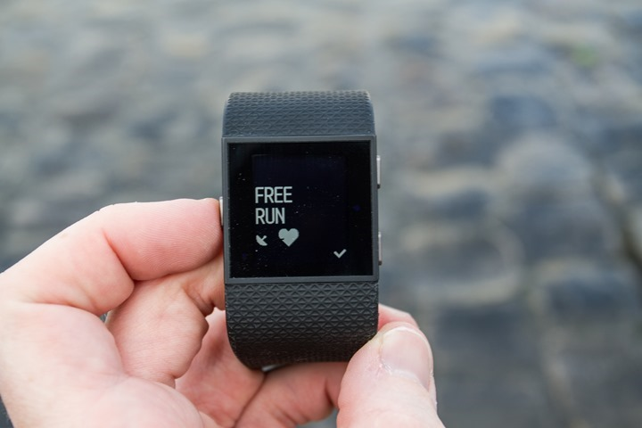 Fitbit-Surge-Free-Run-Mode