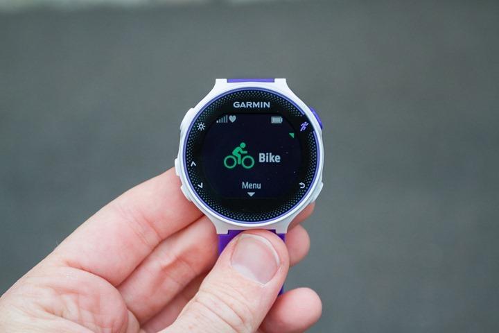 Garmin-FR230-BikeMode