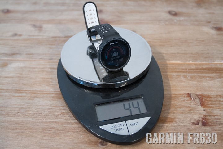 Garmin-FR630-Weight