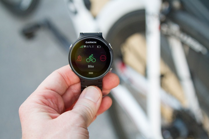 Garmin-FR630-Biking-Mode