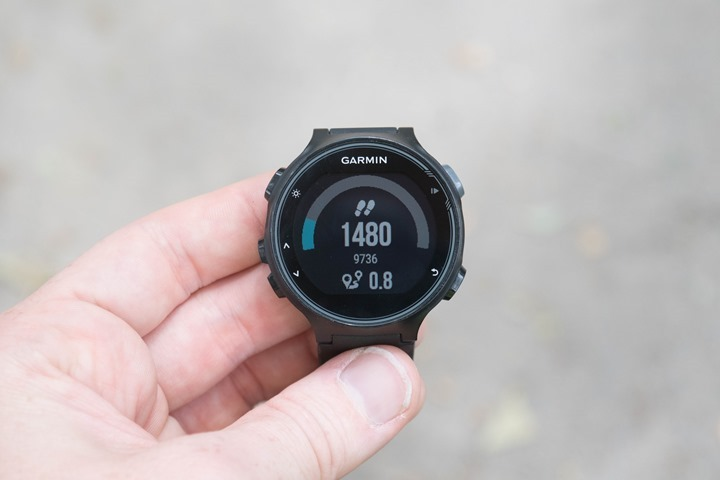 Garmin-FR735XT-Step-Totals