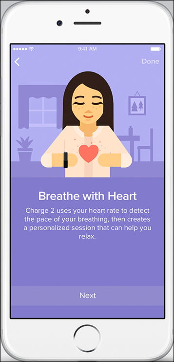 Fitbit Charge 2_Fitbit App_iOS_Relax_Breathe With Heart