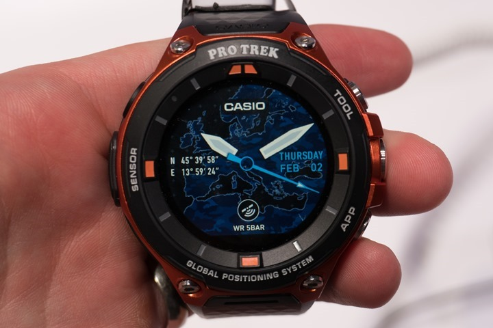 First look the casio pro trek smart android wear gps watch dc rainmaker for Mountain watches