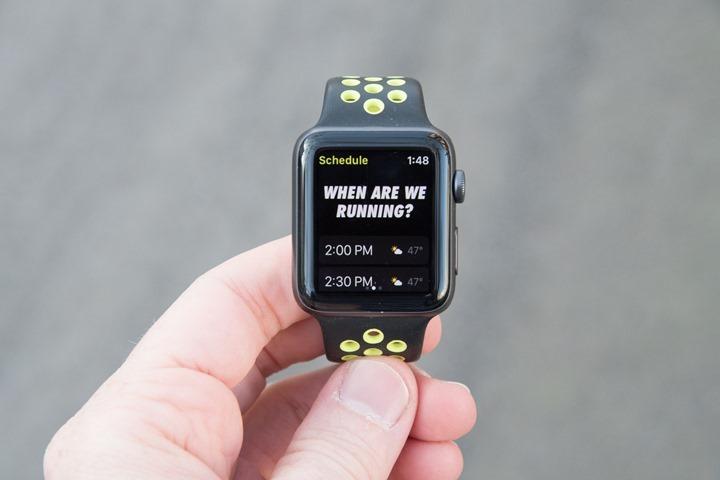 AppleWatchSeries2-NikeRunClubScheduleRun