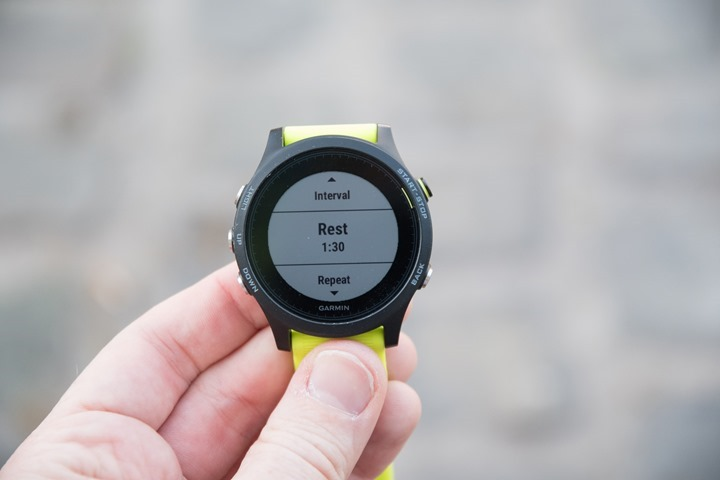 Garmin-FR935-Interval-Rest