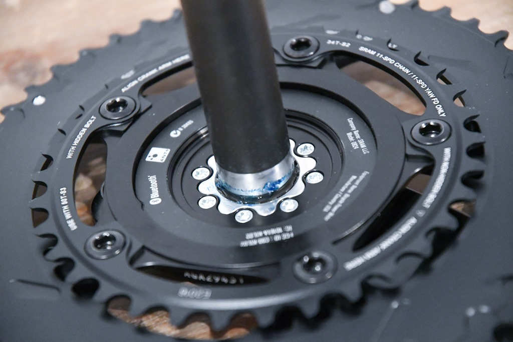 Quarq Power Meter Battery Assembly Unit w// Adhesive Metal Cover Black Road Bike