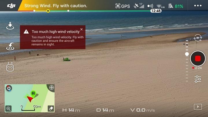 DJI-Spark-High-Wind-Warning