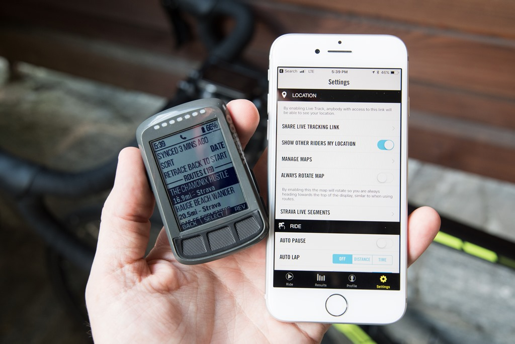 Wahoo Rolls Out ELEMNT/BOLT Live Tracking with Data & Routes | DC