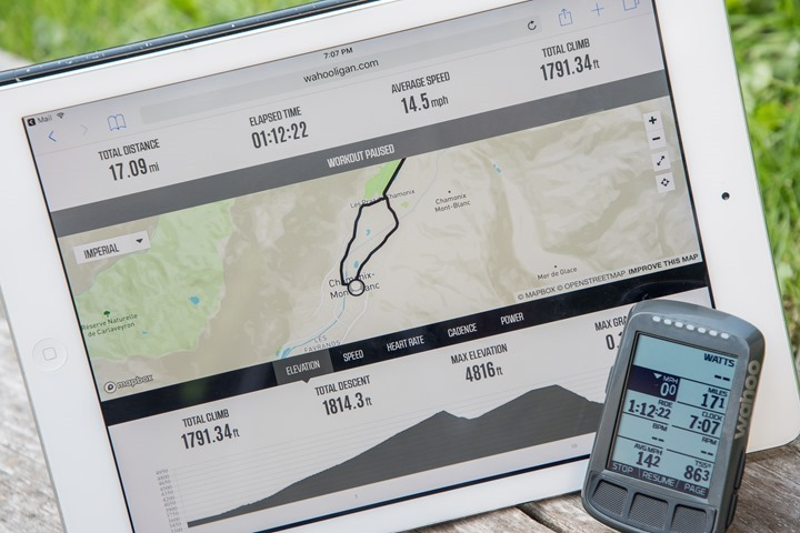 Thumbnail Credit (dcrainmaker.com): With a firmware and app update released today, the Wahoo cycling computers now show proper live tracking information to friends and family