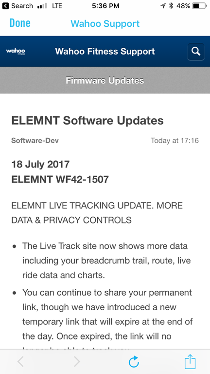 Wahoo Rolls Out ELEMNT/BOLT Live Tracking with Data & Routes